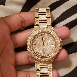 Michael Kors Camille Pave Rose Gold Watch